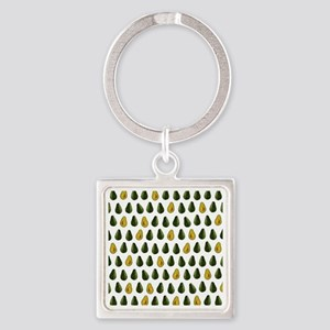 Avocado Pattern Square Keychain