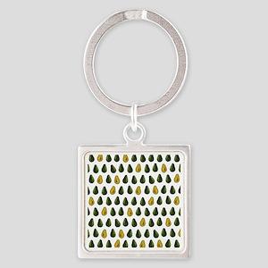 Avocado Pattern Square Keychain