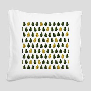 Avocado Pattern Square Canvas Pillow