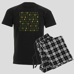 Avocado Pattern Men's Dark Pajamas