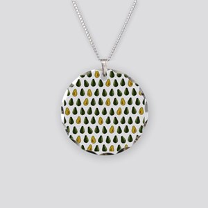 Avocado Pattern Necklace Circle Charm