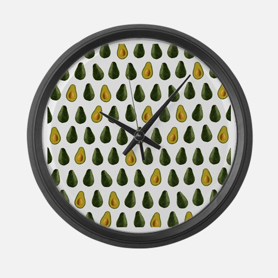 Avocado Pattern Large Wall Clock