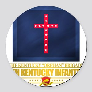 4th Kentucky Infantry Regiment Round Car Magnet