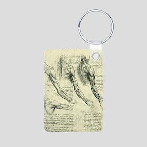Male Anatomy by Leonardo d Aluminum Photo Keychain