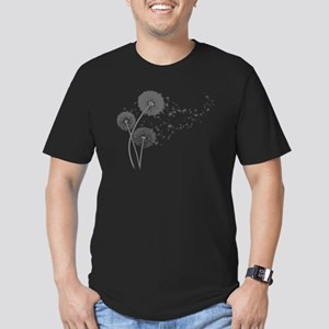 Dandelion Wishes Men's Fitted T-Shirt (dark)