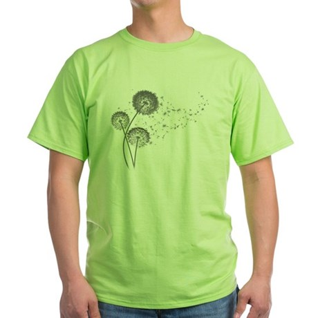 Dandelion Wishes Green T-Shirt