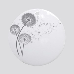 Dandelion Wishes Round Ornament