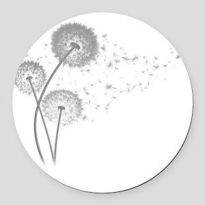 Dandelion Wishes Round Car Magnet