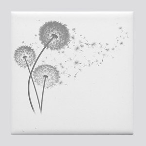 Dandelion Wishes Tile Coaster