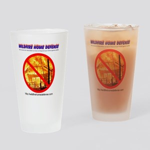 Wildfire Home Defense T-Shirt (Back Drinking Glass