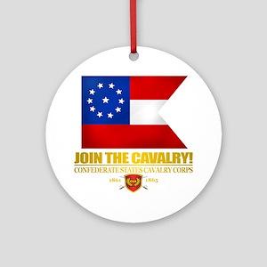 Confederate Cavalry Corps Round Ornament