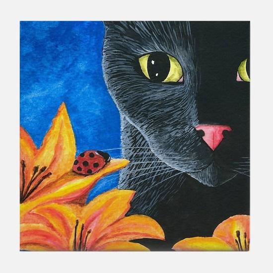 Cat 551 Tile Coaster