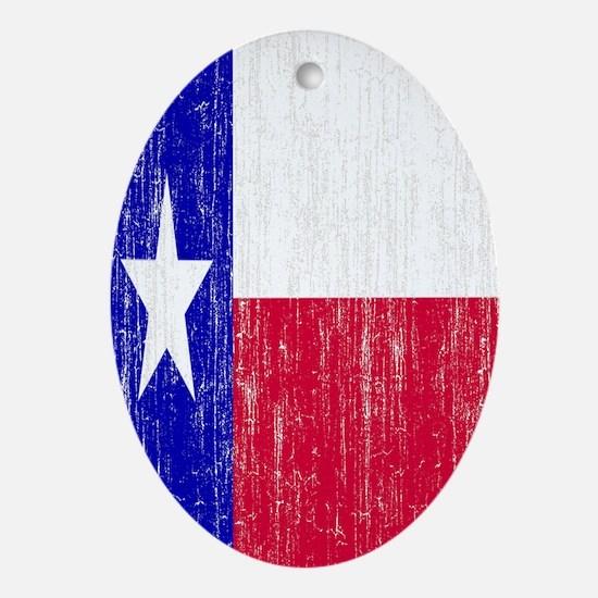Vintage Texas Flag Oval Ornament