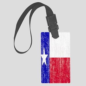 Vintage Texas Flag Large Luggage Tag
