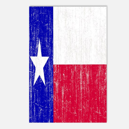 Vintage Texas Flag Postcards (Package of 8)