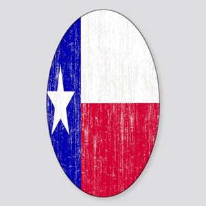 Vintage Texas Flag Sticker (Oval)