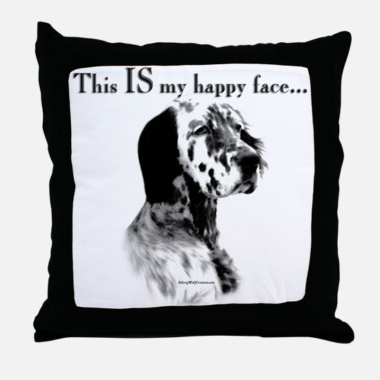Setter Happy Face Throw Pillow