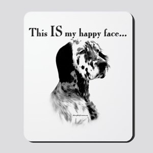 Setter Happy Face Mousepad