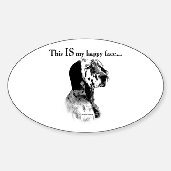 Setter Happy Face Oval Decal