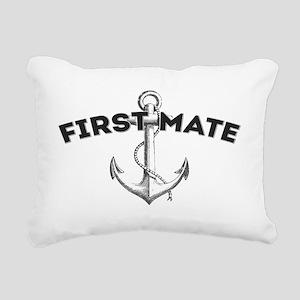 First Mate copy Rectangular Canvas Pillow