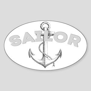Sailor dark Sticker (Oval)