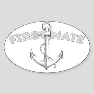First Mate DARK Sticker (Oval)