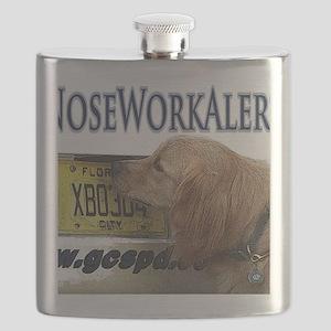 Golden Retriever Nose Work Alert Flask