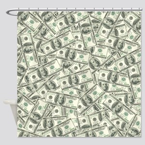 100 Dollar Bill Pattern Shower Curtain