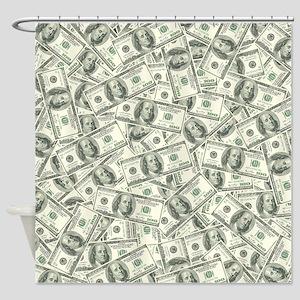 hundred dollar bill shower curtains cafepress