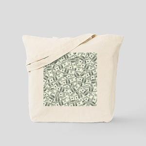 100 Dollar Bill Pattern Tote Bag