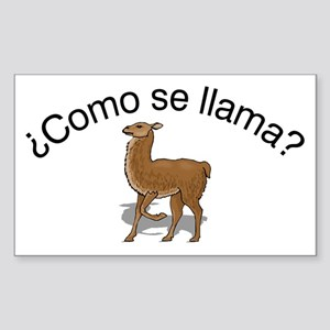 Llama Rectangle Sticker