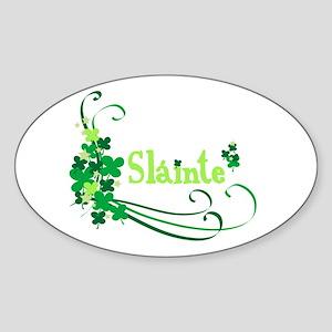 Sláinte Oval Sticker