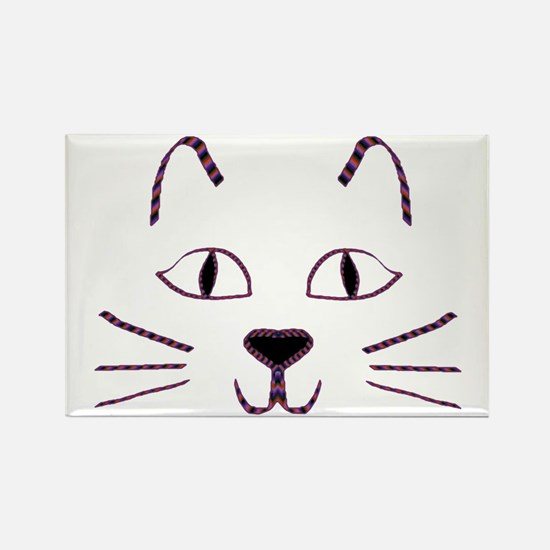 Purple Kitty Rectangle Magnet