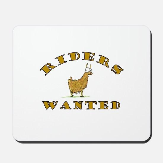 Llama Riders Wanted Mousepad