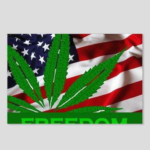 Marijuana Freedom Flag Postcards (Package of 8)