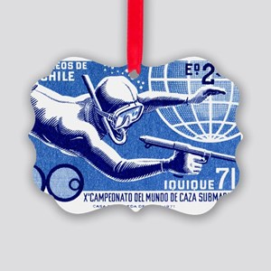 1971 Chile Spearfishing Champions Picture Ornament