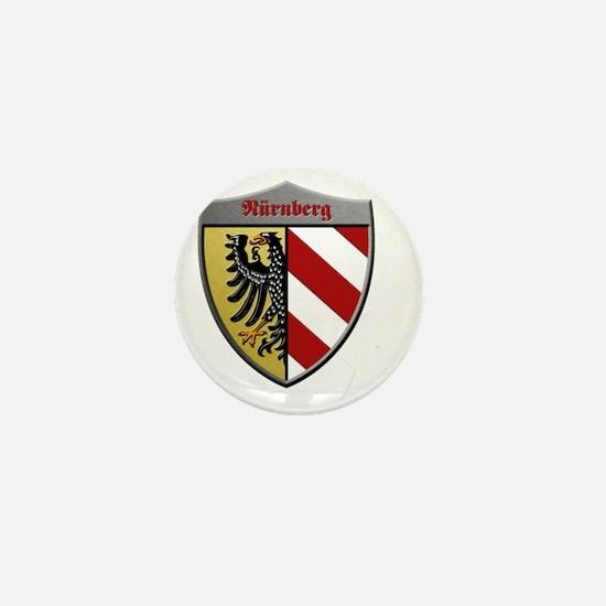 Nuremberg Germany Metallic Shield Mini Button