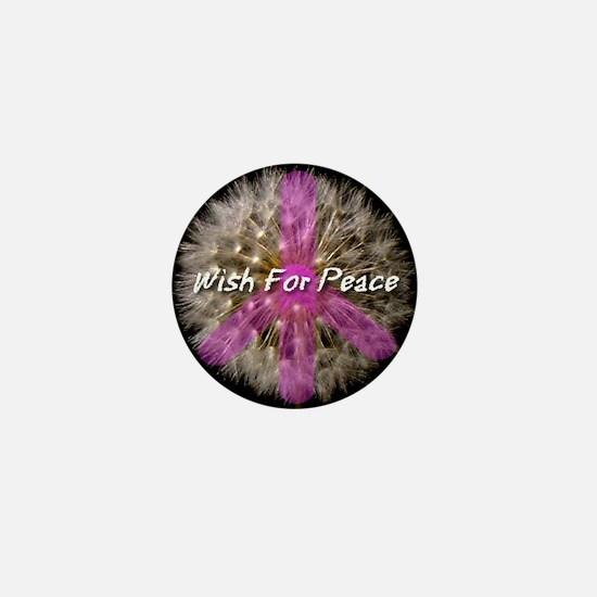 Wish For Peace Dandelion Mini Button