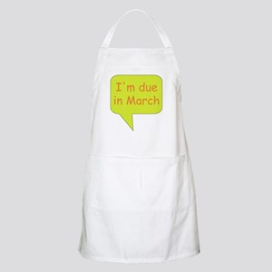 March due date BBQ Apron
