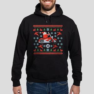 Santa Biker Sweater Tee Hoodie (dark)