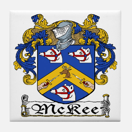 McKee Coat of Arms Tile Coaster