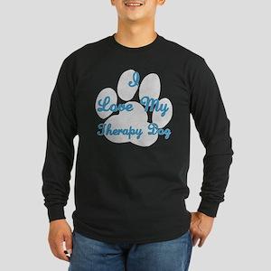 Therapy Dog Long Sleeve Dark T-Shirt