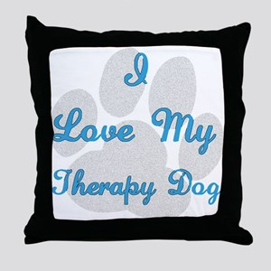 Therapy Dog Throw Pillow