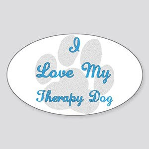 Therapy Dog Sticker (Oval)
