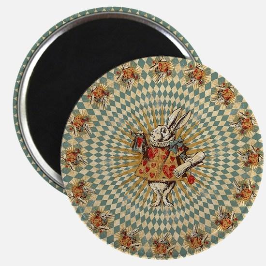 White Rabbit Vintage Magnet