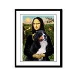 Mona's Bernese Mt. Dog Framed Panel Print