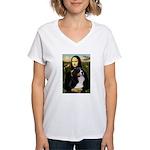 Mona's Bernese Mt. Dog Women's V-Neck T-Shirt