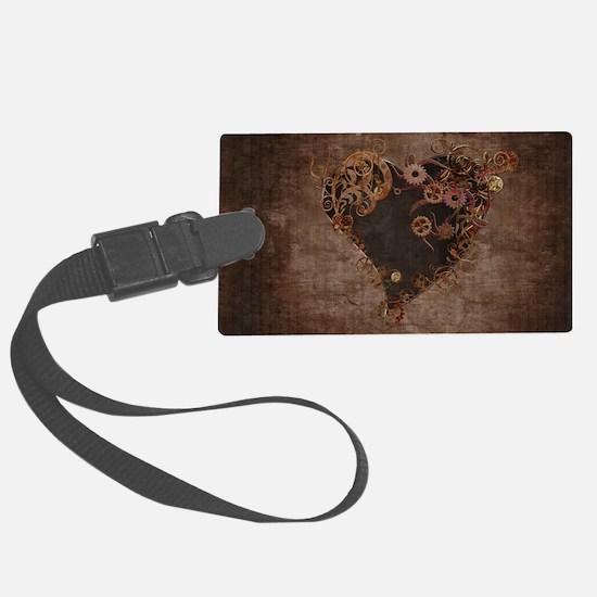 Steampunk Heart Luggage Tag