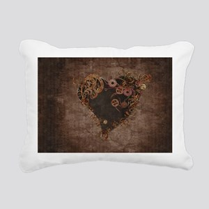 Steampunk Heart Rectangular Canvas Pillow