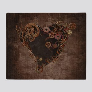 Steampunk Heart Throw Blanket